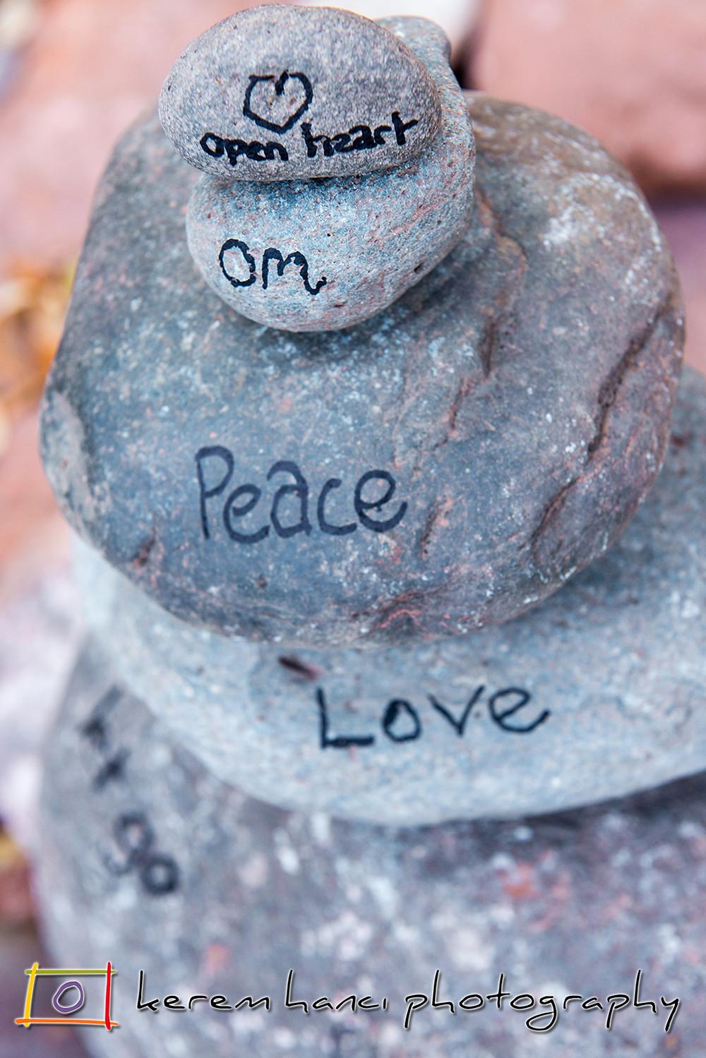 Rock Balancing and Sharpie Messaging