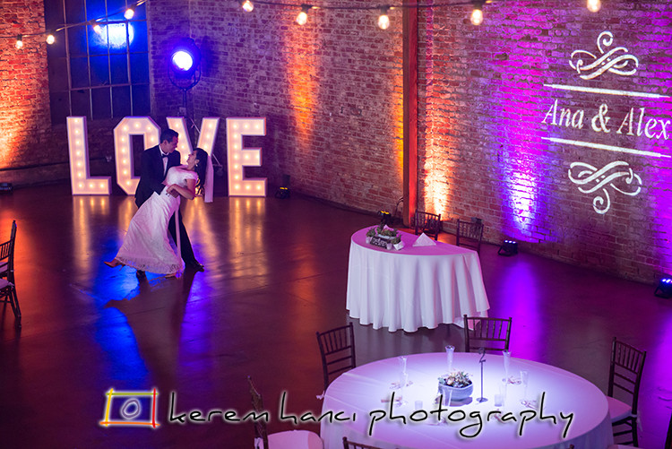 First Dance rehearsal at the lovely Wedding Venue LA River Studios