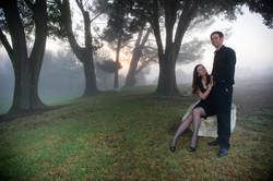 Morning Fog Palos Verdes Engagement