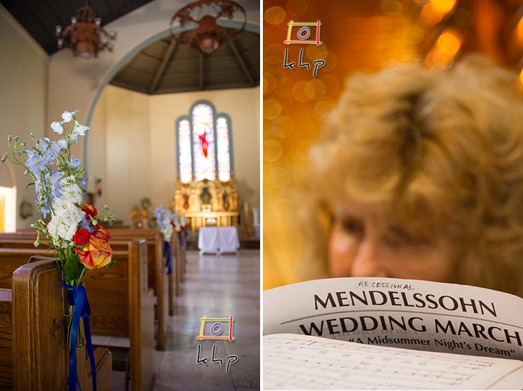 Pre-Ceremony at The Sacred Heart Church in Altadena CA