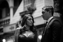 St. Vincent Ct, B&W Engagement Photo