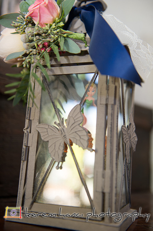A very special and touching appearance by Tinkerbell. A personal touch from the bride.