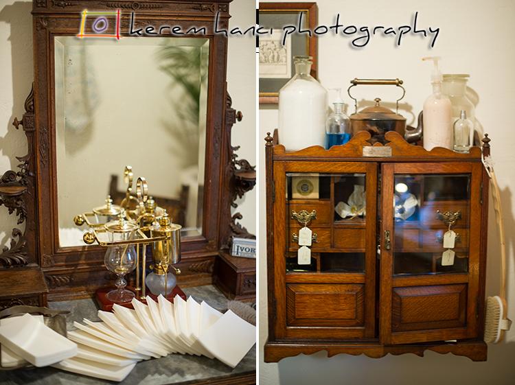 Detail photos from the bathroom setup at The Villa San Juan Capistrano