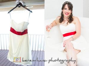 Brier's Wedding Dress in Malibu, CA