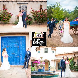 The newlyweds portraits at Rancho Chiquita in Malibu CA