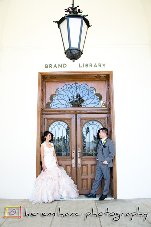 Glendale Brand Library couple portraits