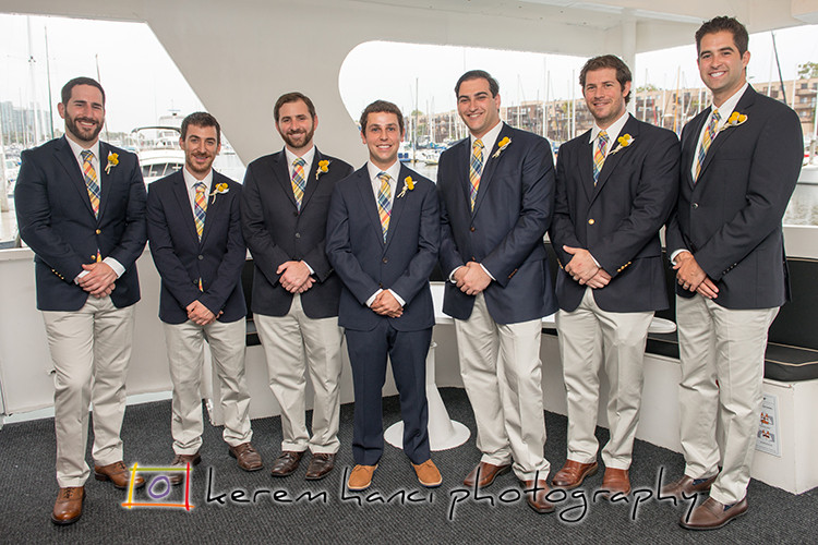 Kerem Hanci Photography wedding party pictures on a Fantasea Yacht