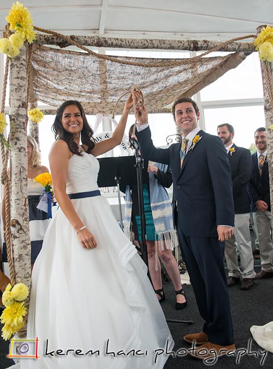 Kerem Hanci Photography wedding ceremony on a Fantasea Yacht