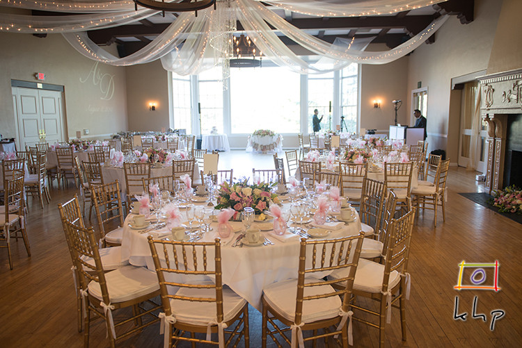 Wedding Reception Setup at Altadena Town & Country Club