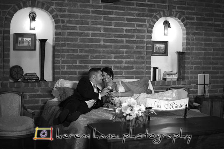Newlyweds portraits at The Villa San Juan Capistrano