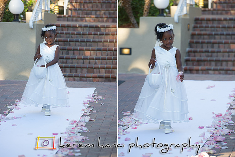 The Flower Girl at the Tustin Ranch Golf Club