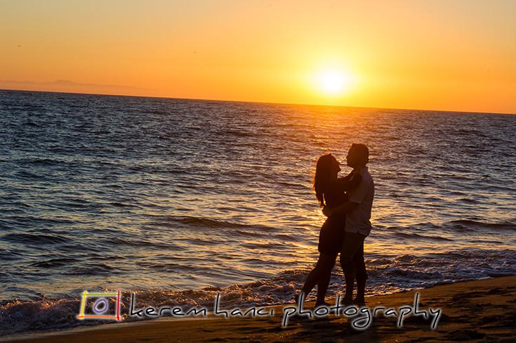 Sunset engagement photos in Newport Beach, CA