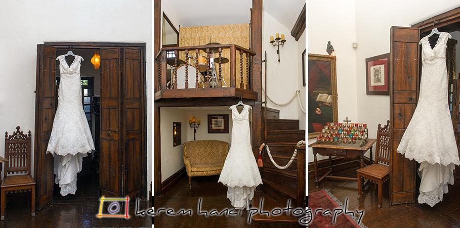 The wedding gown at The Villa San Juan Capistrano