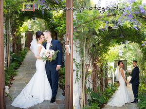 Bride and groom portraits at The Villa San Juan Capistrano