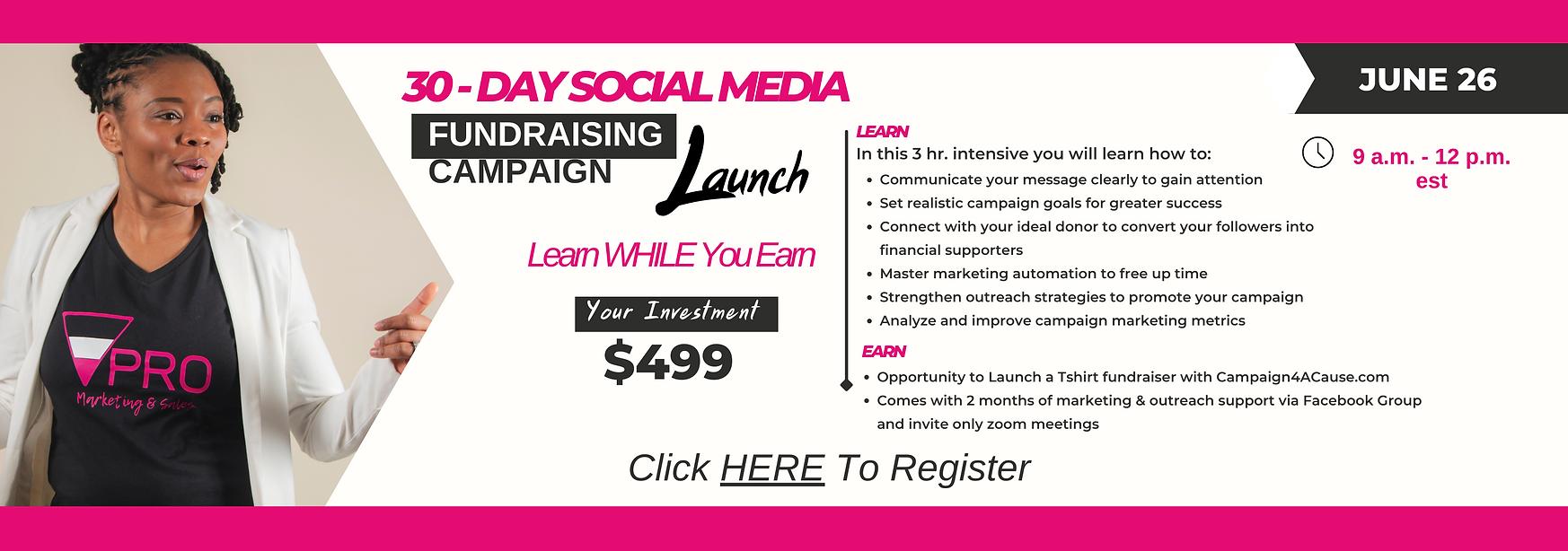 Social Media Fundraising Campaign