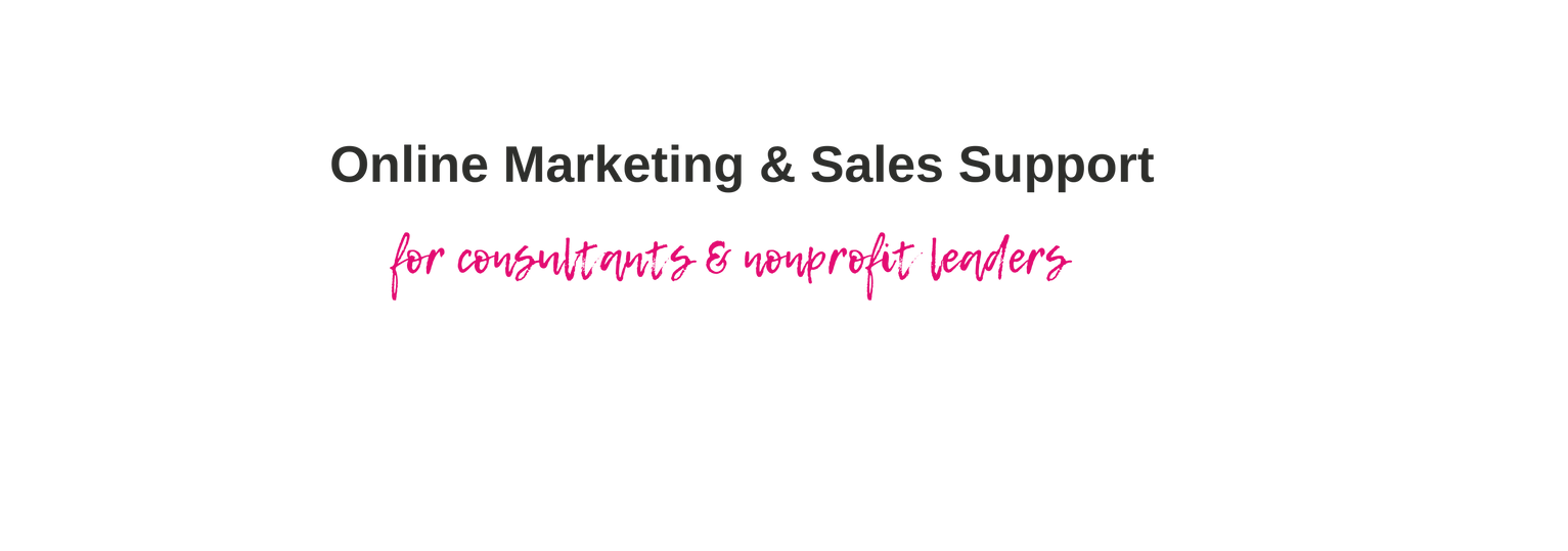 Online Marketing for consultants Nonprof