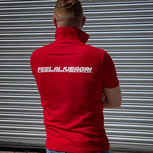 FEELALIVEAGRI Red Mens Polo