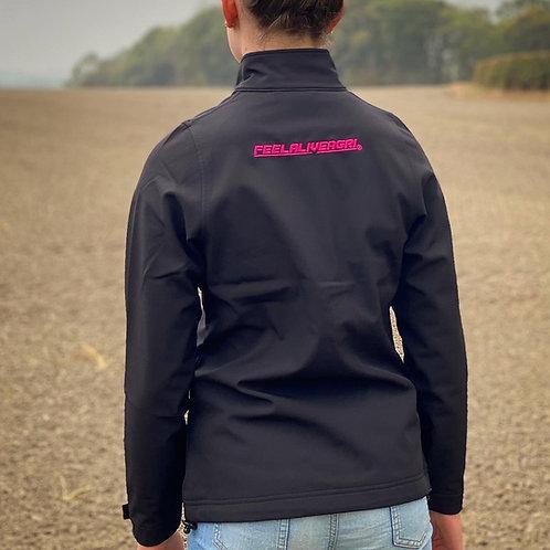FEELALIVEAGRI Softshell Jacket Black/Hot Pink