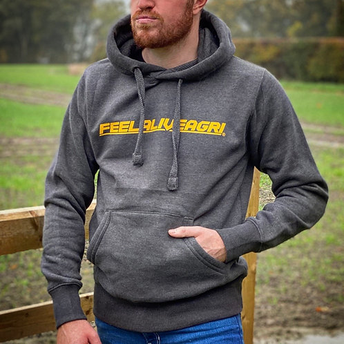 FEELALIVEAGRI Grafter Hoodie Charcoal & Gold