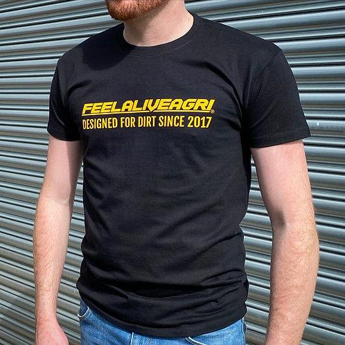 FEELALIVEAGRI Mens Designed For Dirt T-Shirt