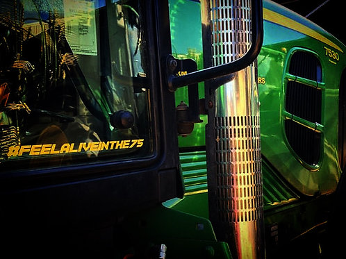 (Golden Yellow) Tractor Hashtags Small