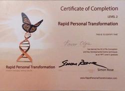 Сертификат терапевта RPT 2 уровень