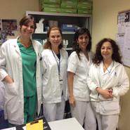 С врачами и руководителем моей практики клиники репродукции госпиталя Quiron в городе Сан-Себастьян