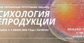 Годовая обучающая программа онлайн по психологии репродукции