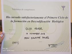 Сертификат терапевта по биологическому декодировнию