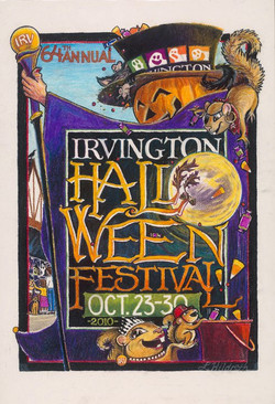 2010 Irvington Halloween Poster