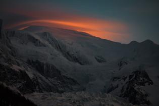 Mont Blanc et son chapeau