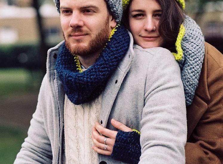 Glow sjaals met verborgen fluo Antwerpen