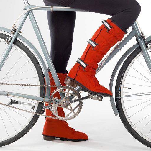 Stijlvol op de fiets schoenbeschermers