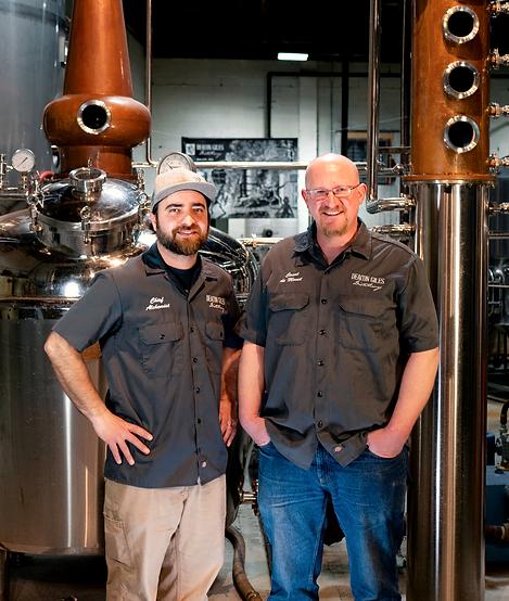 The cofounders of deacon giles distillery