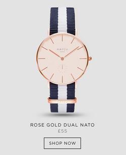 Rose gold dual NATO