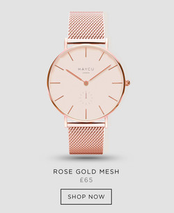 Rose gold and all rose gold mesh