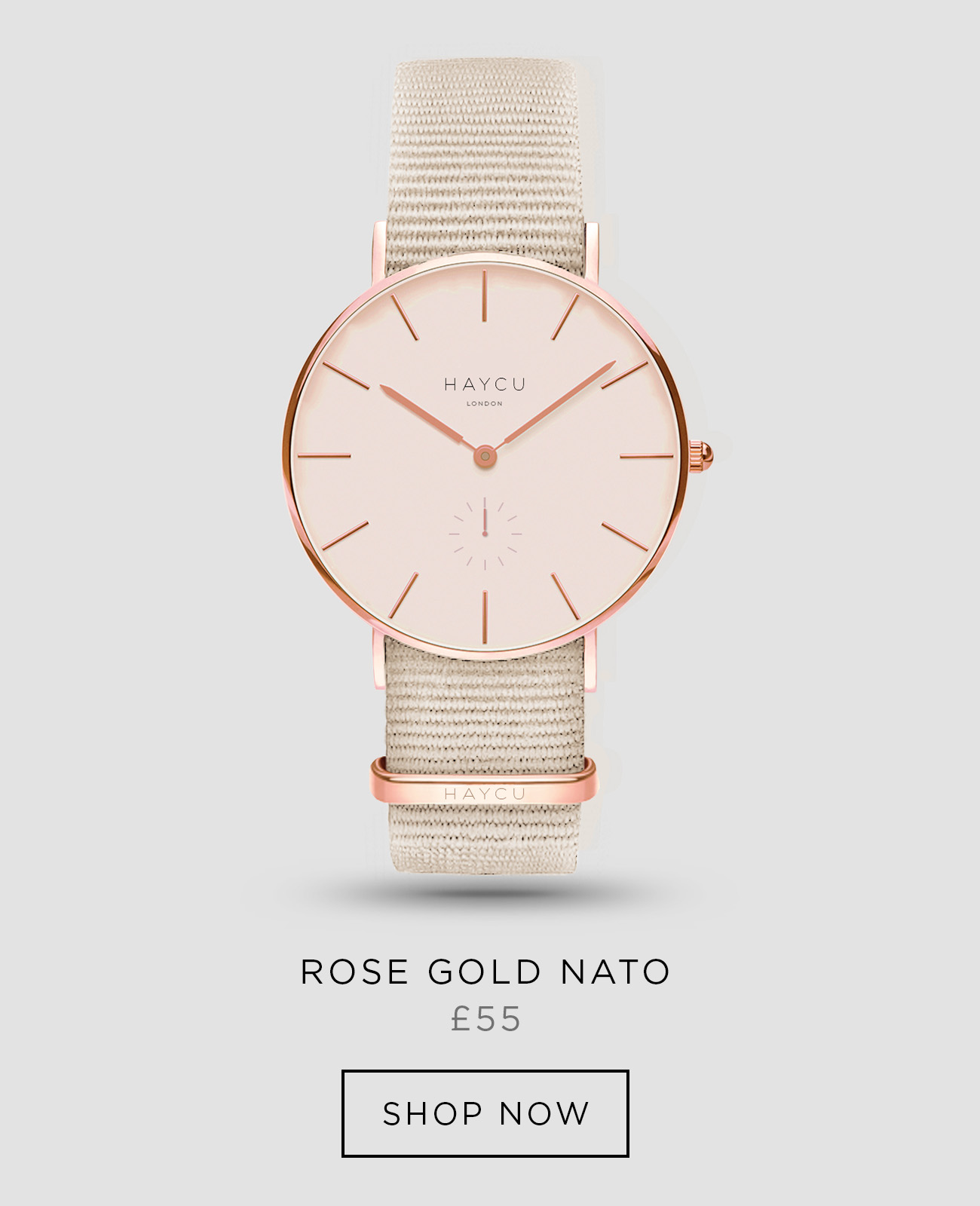 Rose gold and tan NATO