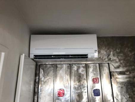 Remplacement climatisation par un Pompe a chaleur Compact AP Mitsubishi MSZ-AP à Théoule