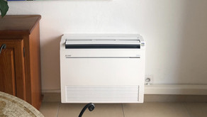 Installation - Console Mitsubishi KT climatisation réversible Theoule