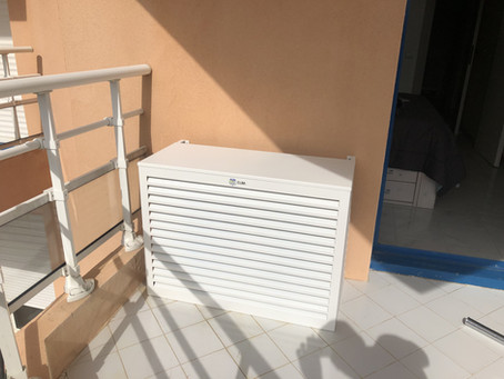 Installation cache clim ALU blanc Mandelieu