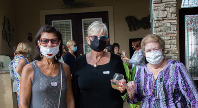 Jeanine Horowitz - Social Activities co-chair, Barbara McCarthy - Treasurer and Fran Chiodo - Fundraising committee