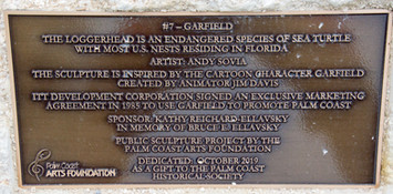 2019.10.26 Plaque for the Garfield Turtl