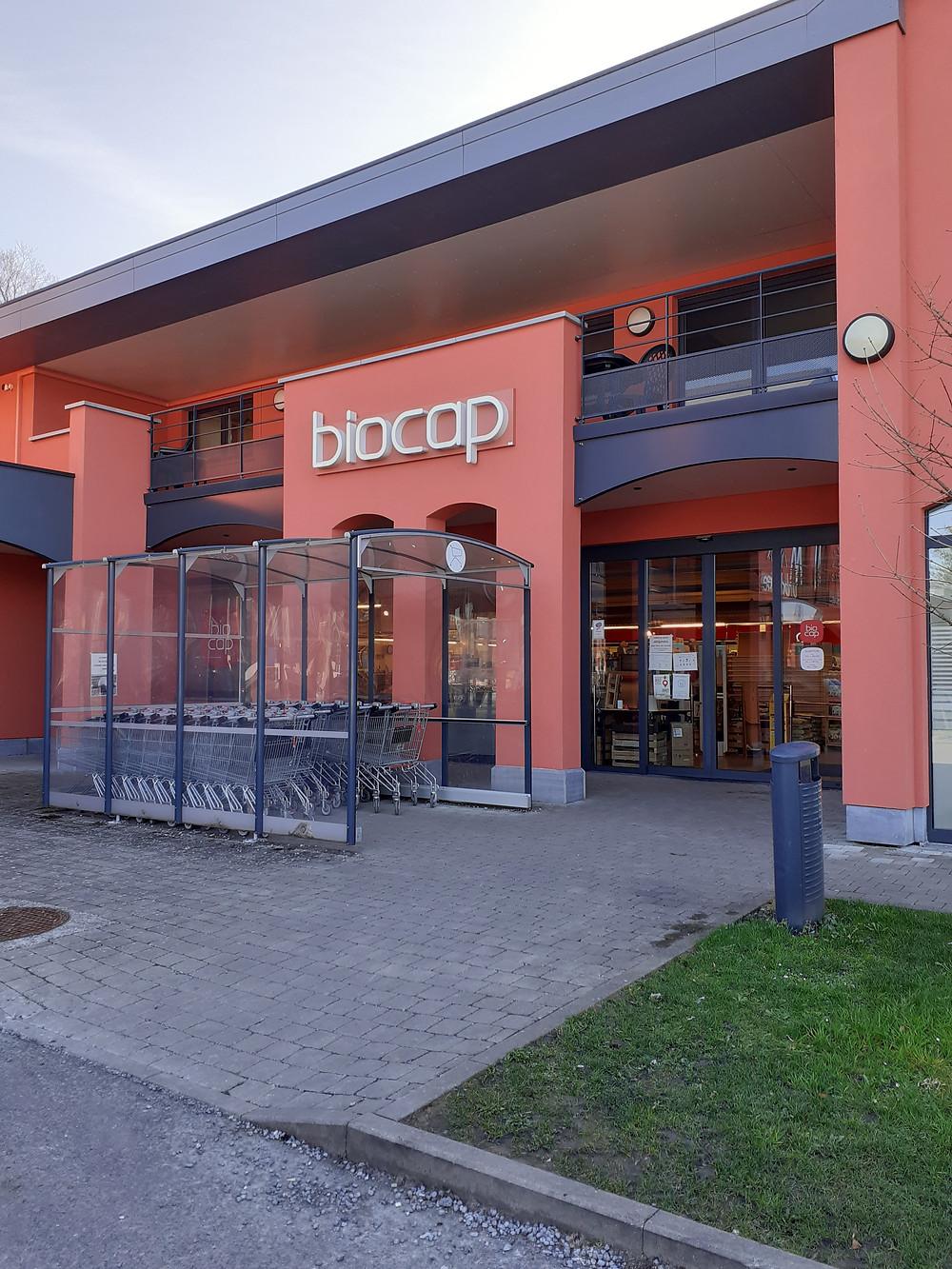 Façade du magasin Biocap d'Erpent