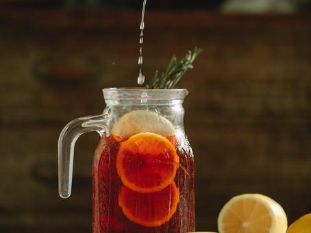 Cocktail à la grenade, orange et gingembre