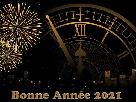 Du 31 janvier au 5 janvier 2021 : Je vous souhaite à vous tous une nouvelle année vraiment heureuse!