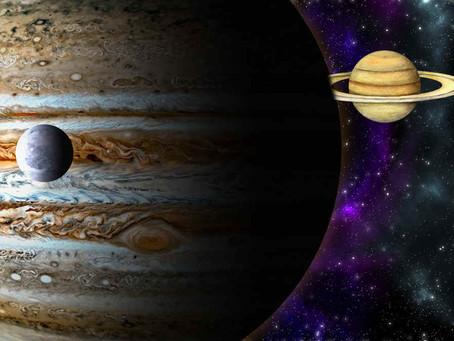 10-12 janvier 2021 - Mercure conjoint Saturne et Jupiter