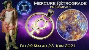 29 mai 2021 - Mercure rétrograde, Mercure conjoint à Vénus.