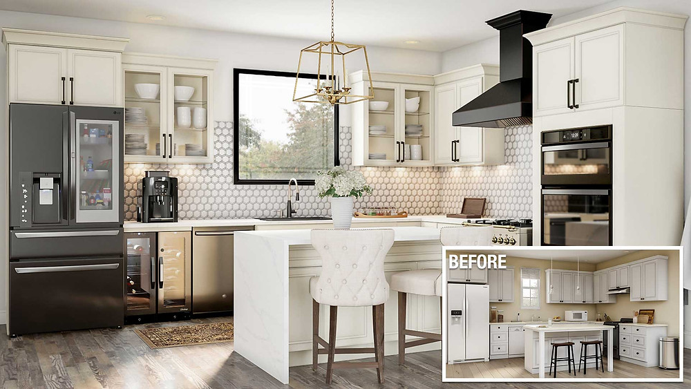 Before and After of a Kitchen Remodel | Matthew Stewart Realtor | Listing Specialist | Selling Consultation