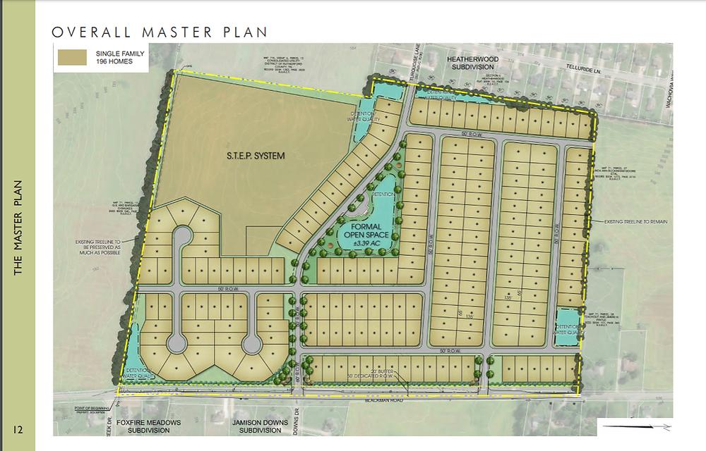 New home subdivision master plan map. | Matthew Stewart Real Estate Team