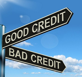 Good Credit vs Bad Credit directional arrows.  Matthew Stewart Real Estate